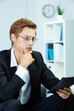 Accountant with calculator Royalty Free Stock Photo