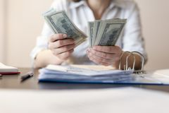 Accountant counting money royalty free stock photos