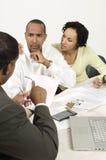 Accountant Giving Bad News Royalty-vrije Stock Foto