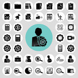 Accountant icons set. Royalty Free Stock Photos