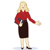 Accountant. Illustration Featuring a Female Royalty Free Stock Photos