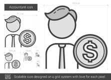 Accountant line icon. Accountant vector line icon isolated on white background. Accountant line icon for infographic, website or app. Scalable icon designed on Royalty Free Stock Images