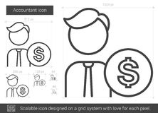 Accountant line icon. Accountant vector line icon isolated on white background. Accountant line icon for infographic, website or app. Scalable icon designed on Royalty Free Stock Photos