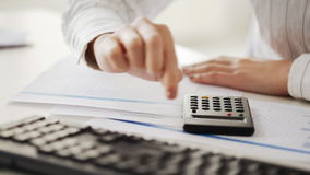Accountant making calculations and working with Stock Photo