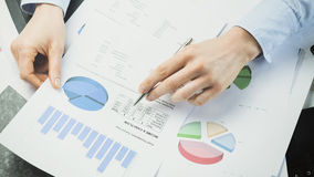 Accountant or Manager Reading Documents Stock Images