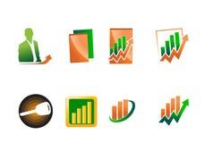 Accountant and market logo Stock Photo