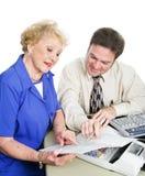 Accountant met Cliënt Stock Fotografie