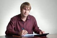 Accountant op het werk royalty-vrije stock foto's
