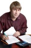 Accountant op het werk Royalty-vrije Stock Fotografie
