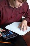 Accountant op het werk Stock Foto