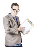 Accountant presenting business plan Royalty Free Stock Images