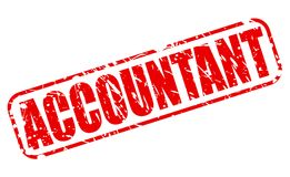 ACCOUNTANT red stamp text. On white Vector Illustration