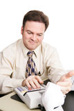 Accountant Satisfied Royalty Free Stock Image