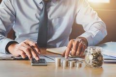 accountant saving money. concept accounting stock photo