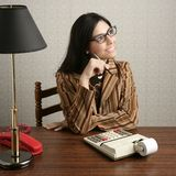 Accountant secretary retro woman vintage office Stock Image