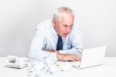 Accountant  senior man Stock Photo