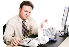Accountant Serious Stock Afbeelding