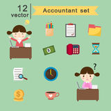 Accountant set Stock Images