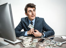 Accountant steal money from petty cash funds Royalty Free Stock Images