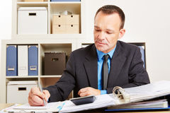 Accountant during tax audit in office Stock Photos
