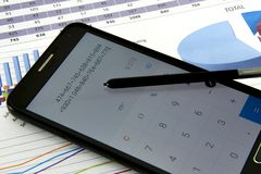 Accountant verify the accuracy of financial statements. Bookkeeping, Accountancy Concept. Royalty Free Stock Photography