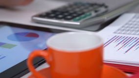 Accountant Woman Working stock video