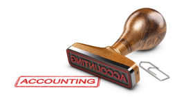 Accountant, Word Boekhouding over Witte Achtergrond Royalty-vrije Stock Fotografie