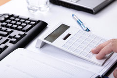 Accountant in work royalty free stock photography