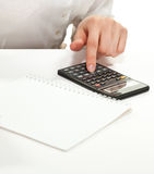 Accountant at work Royalty Free Stock Photo