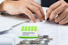 Accountant work Royalty Free Stock Image