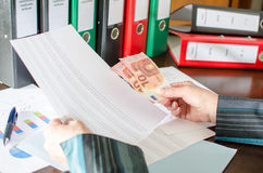 Accountant at work Stock Photo