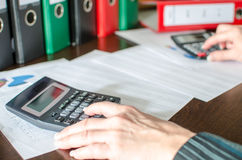 Accountant at work Royalty Free Stock Images