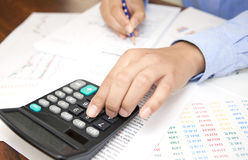 Accountant. At work in office royalty free stock image