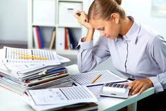 Accountant at work Stock Photos