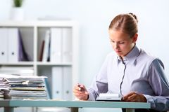 Accountant at work Stock Image