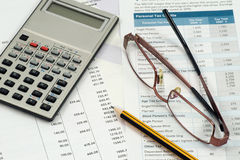 Accountant work space royalty free stock photos