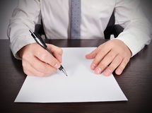 Accountant working Royalty Free Stock Photography