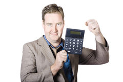Accountant working with a calculator Royalty Free Stock Images