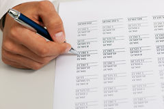 Accountant working on numbers Royalty Free Stock Photos