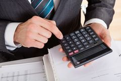 Accountant working at the office Stock Image