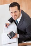 Accountant working at the office Royalty Free Stock Images
