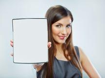 Accountants bedrijfsvrouwenportret Royalty-vrije Stock Foto's