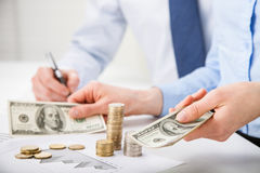 Accountants calculating profit Stock Photography