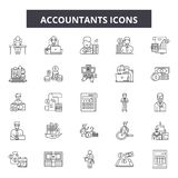 Accountants line icons, signs, vector set, outline illustration concept. Accountants line icons, signs, vector set, outline concept illustration vector illustration