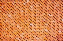accounten som den forntida brända den keramiska currenten evakuerade gjorda imitatören liknar tegelplattor för taktegelplattan ti Royaltyfri Fotografi