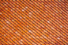 accounten som den forntida brända den keramiska currenten evakuerade gjorda imitatören liknar tegelplattor för taktegelplattan ti Arkivbilder