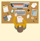 Accounter management workplace Stock Image