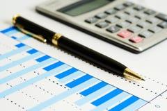 Financial accounting stock market graphs charts