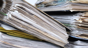 Accounting. Folders full of financial paperwork Stock Photo