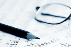 Financial accounting stock market charts Stock Photo